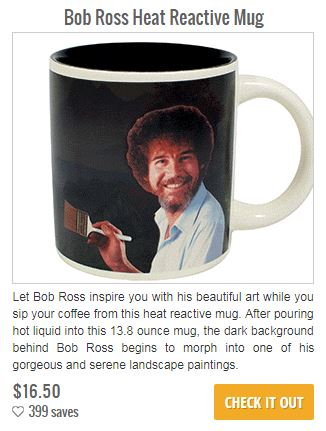 bob ross mug, emerge richmond va