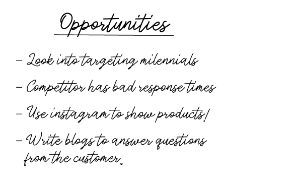 opportunities in swot analysis