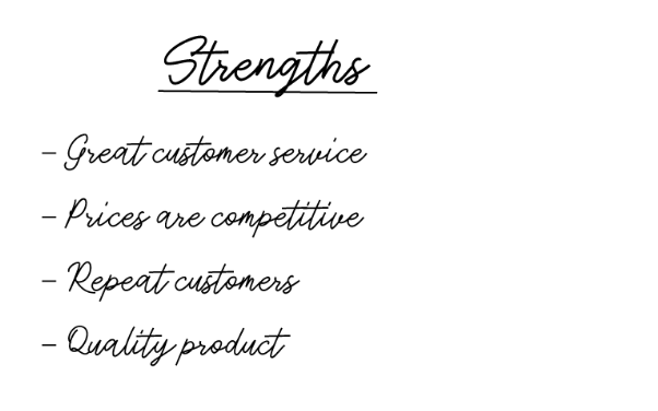 strengths in swot analysis